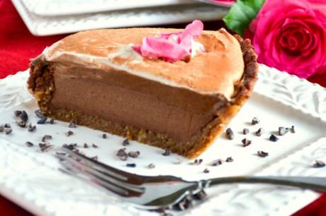 Vegan no-bake Mississippi mud pie