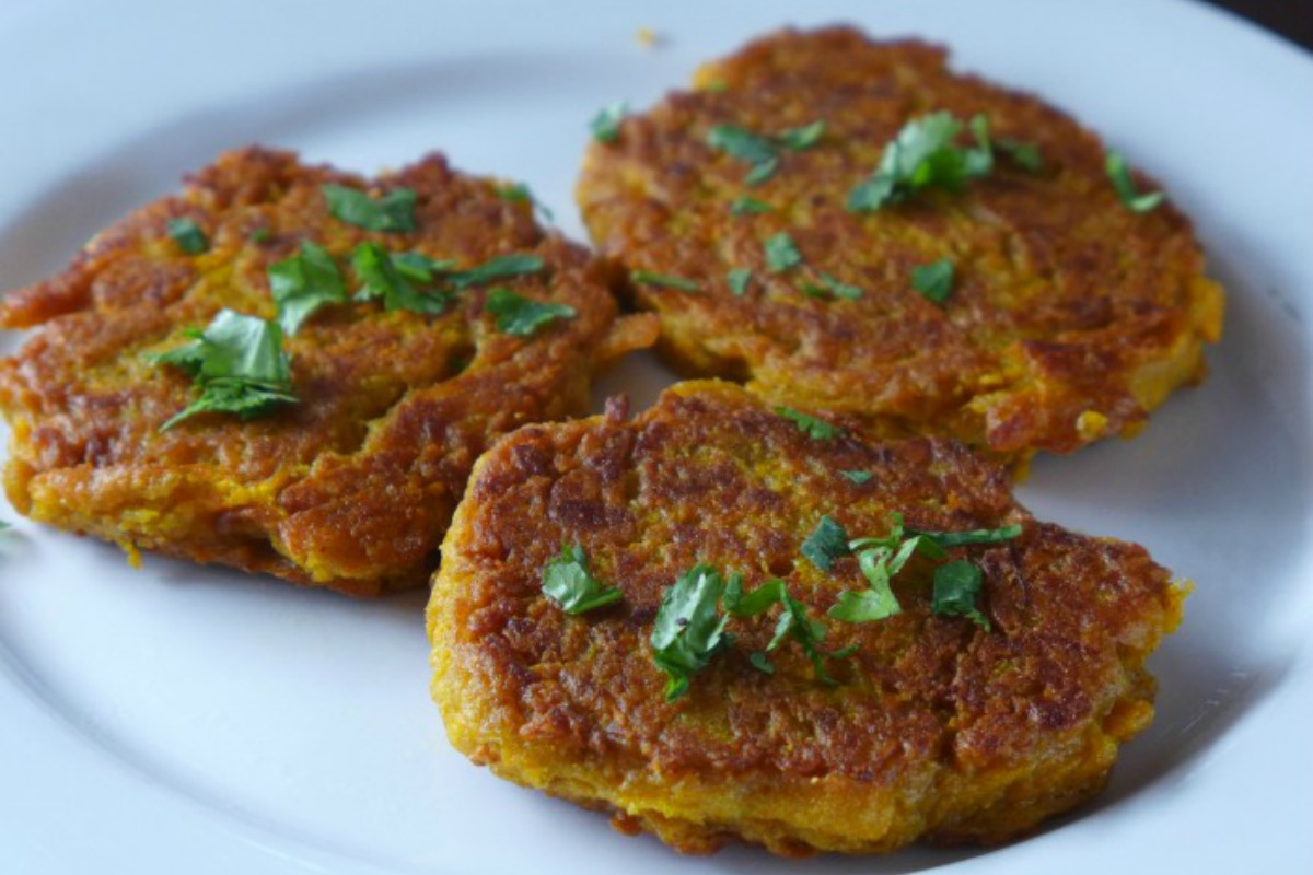Super Simple Curried Pumpkin Fritters [Vegan, Gluten-Free]