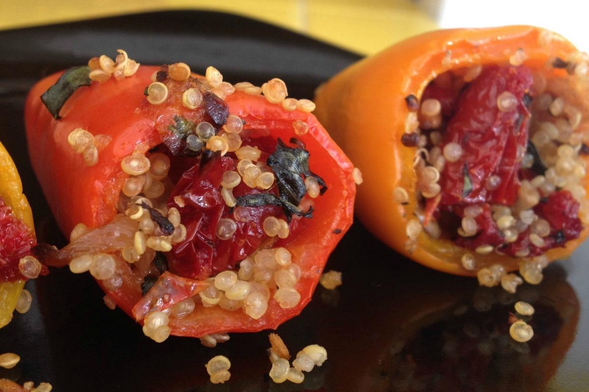 Savory Stuffed Pepper Poppers [Vegan, Gluten-Free]