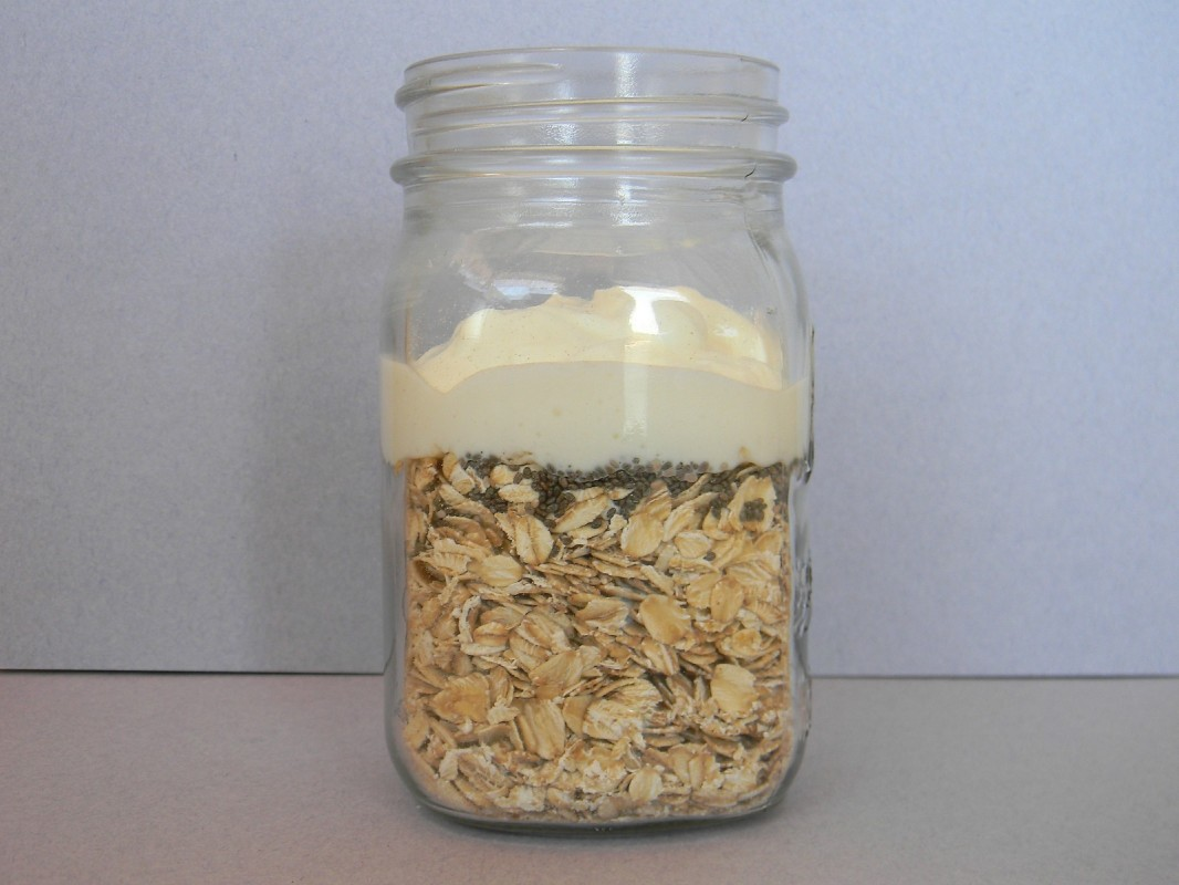 oats and coconut yogurt