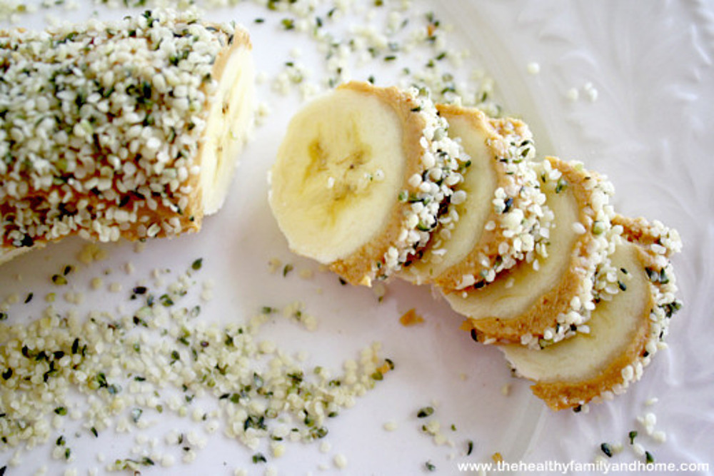 Banana Hemp Seed Sushi Slices