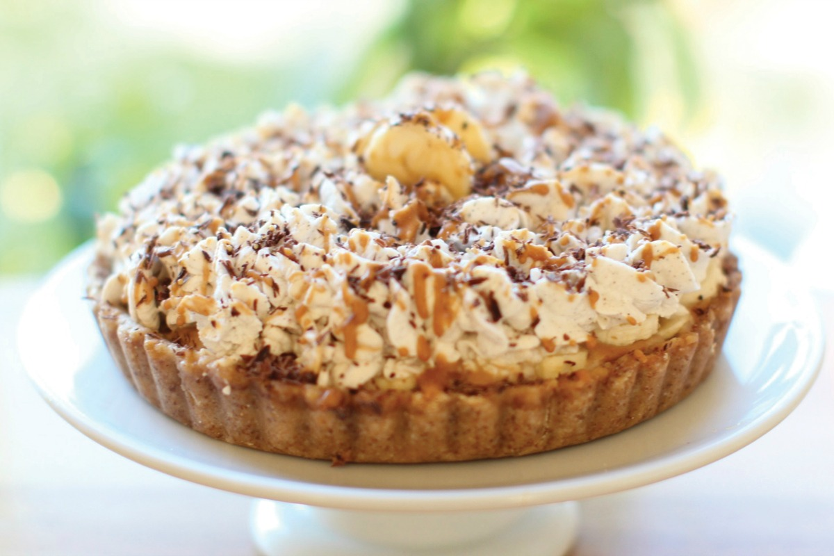 Banana Toffee Pie [Vegan, Gluten-Free]