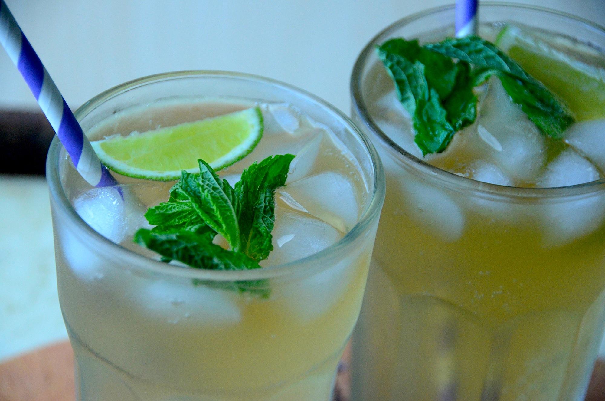 Fizzy Coconut, Lime, and Mint Kombucha Elixir