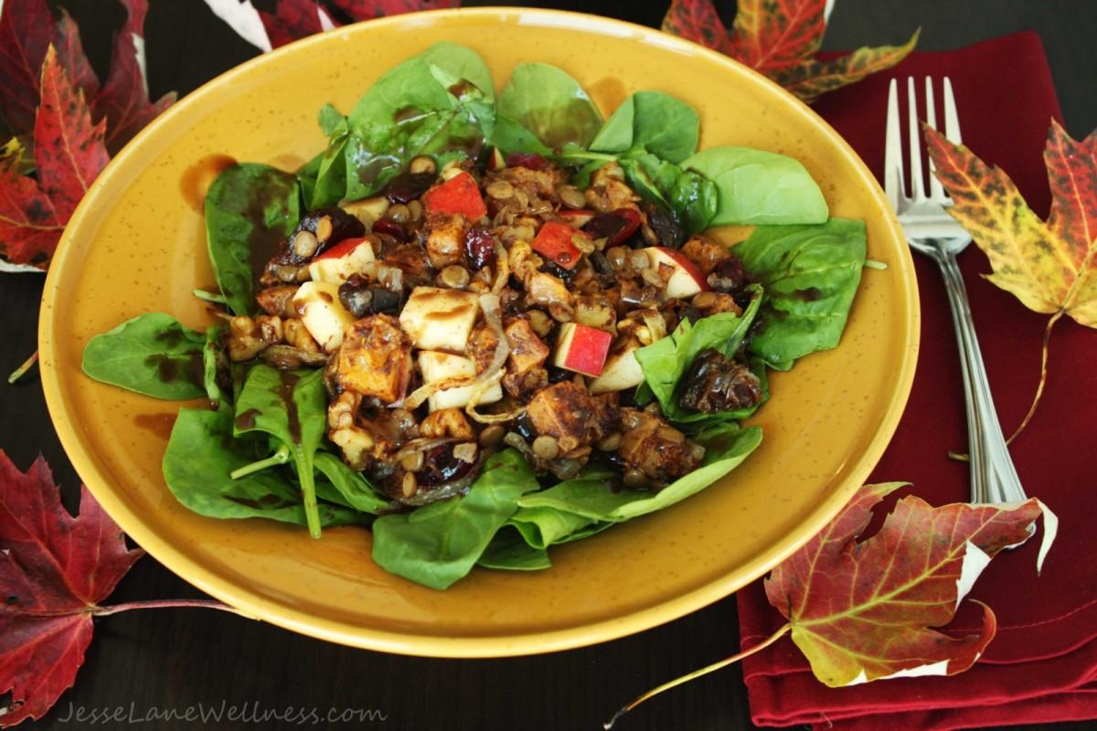 Vegan Seasonal Sweet Autumn Salad