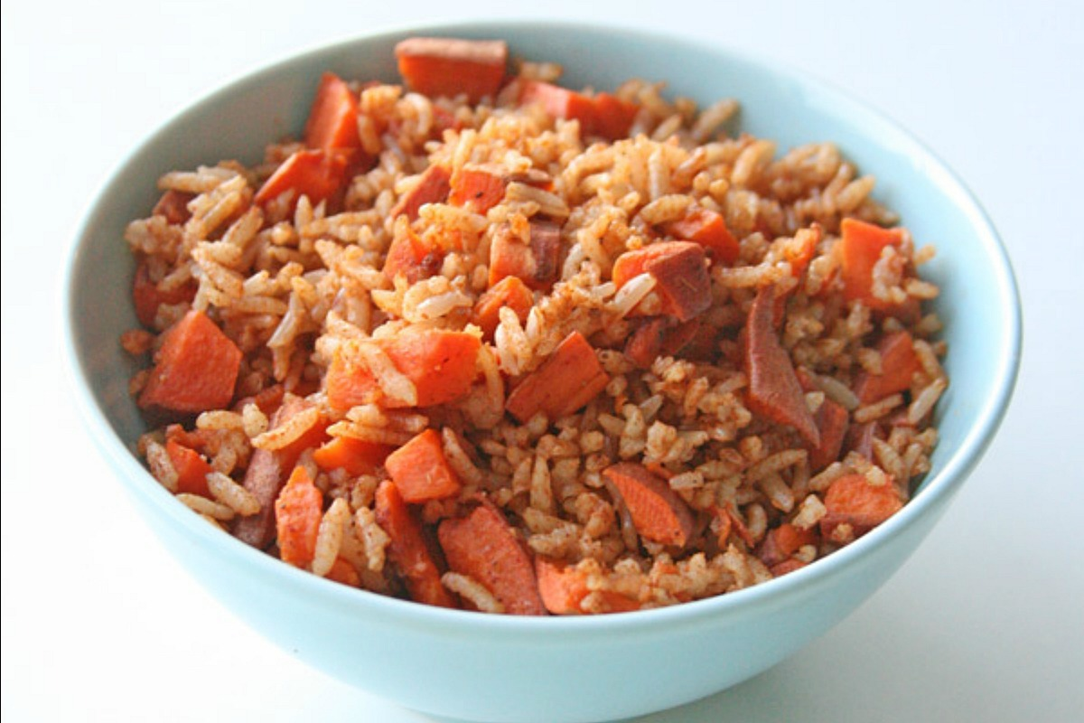 Sweet Potato Fried Rice [Vegan, Gluten-Free]