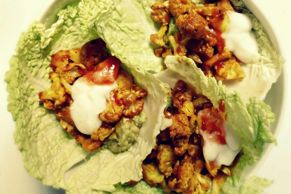 Tandoori Cauliflower Wraps [Vegan, Gluten-Free]