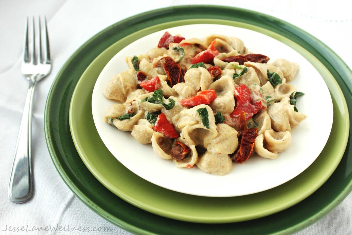 Vegan Alfredo Pasta [Gluten-Free]