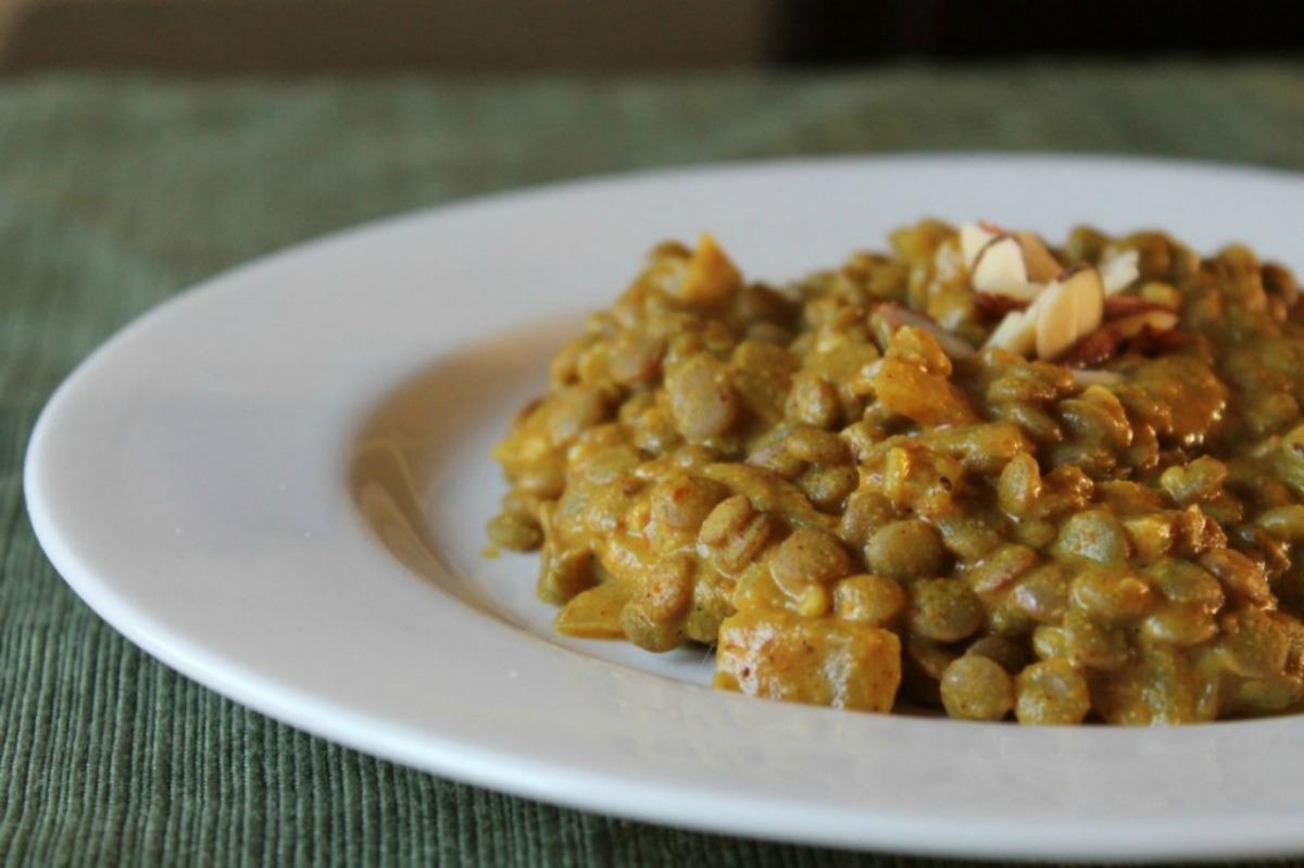 Almond Curry Lentils