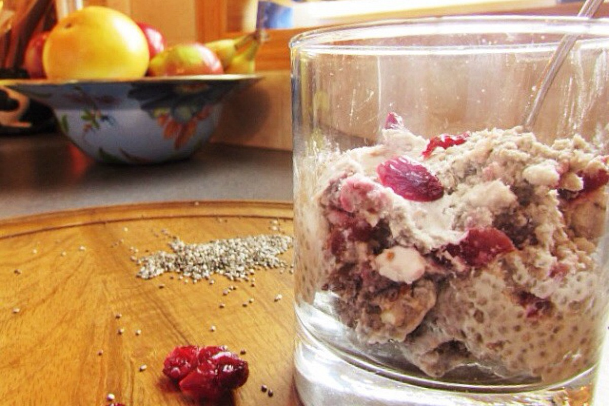 Cranberry Walnut Chia Pudding [Vegan, Gluten-Free]