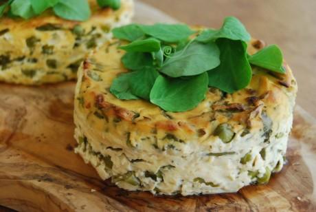 Garden Pea Tofu Fritatta [Vegan, Gluten-Free]