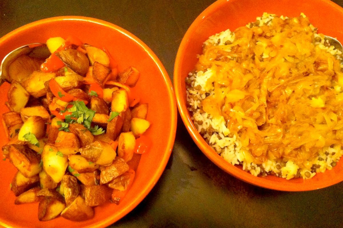 A Night in Lebanon: Batata Hara & Mujadara [Vegan, Gluten-Free]