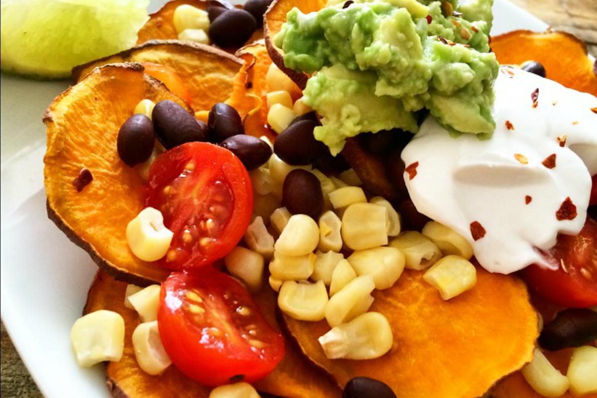 Sweet Potato Nachos [Vegan, Gluten-Free]