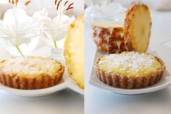 raw vegan gluten free pineapple tart