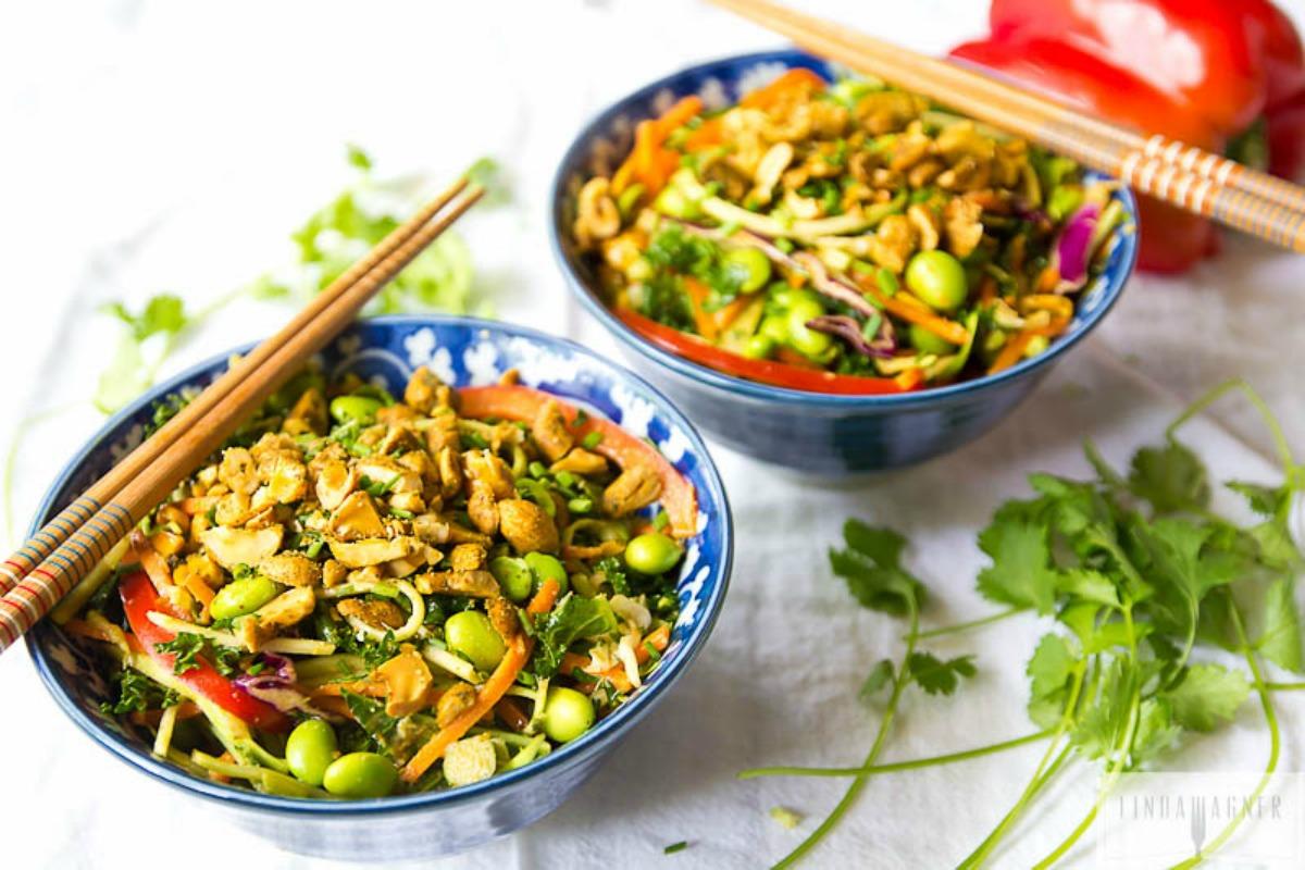 Spicy Raw Thai Salad [Vegan, Gluten-Free]