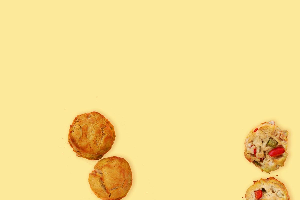 Vegetable Home-Fry Biscuits [Vegan, Gluten-Free]