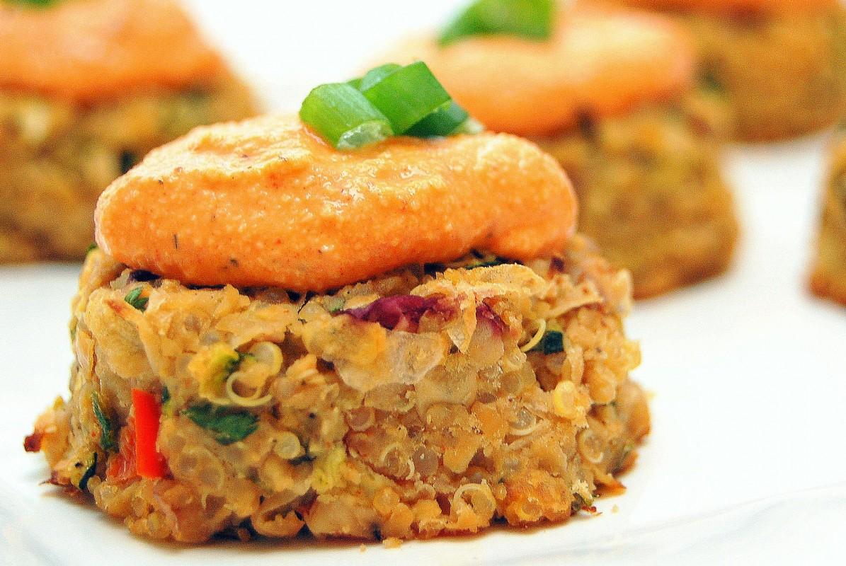Mini Quinoa-Chickpea Cakes