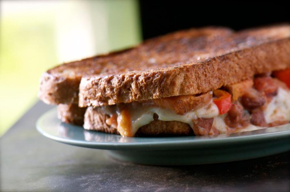 Southwestern Grilled Cheese Sandwich [Vegan]
