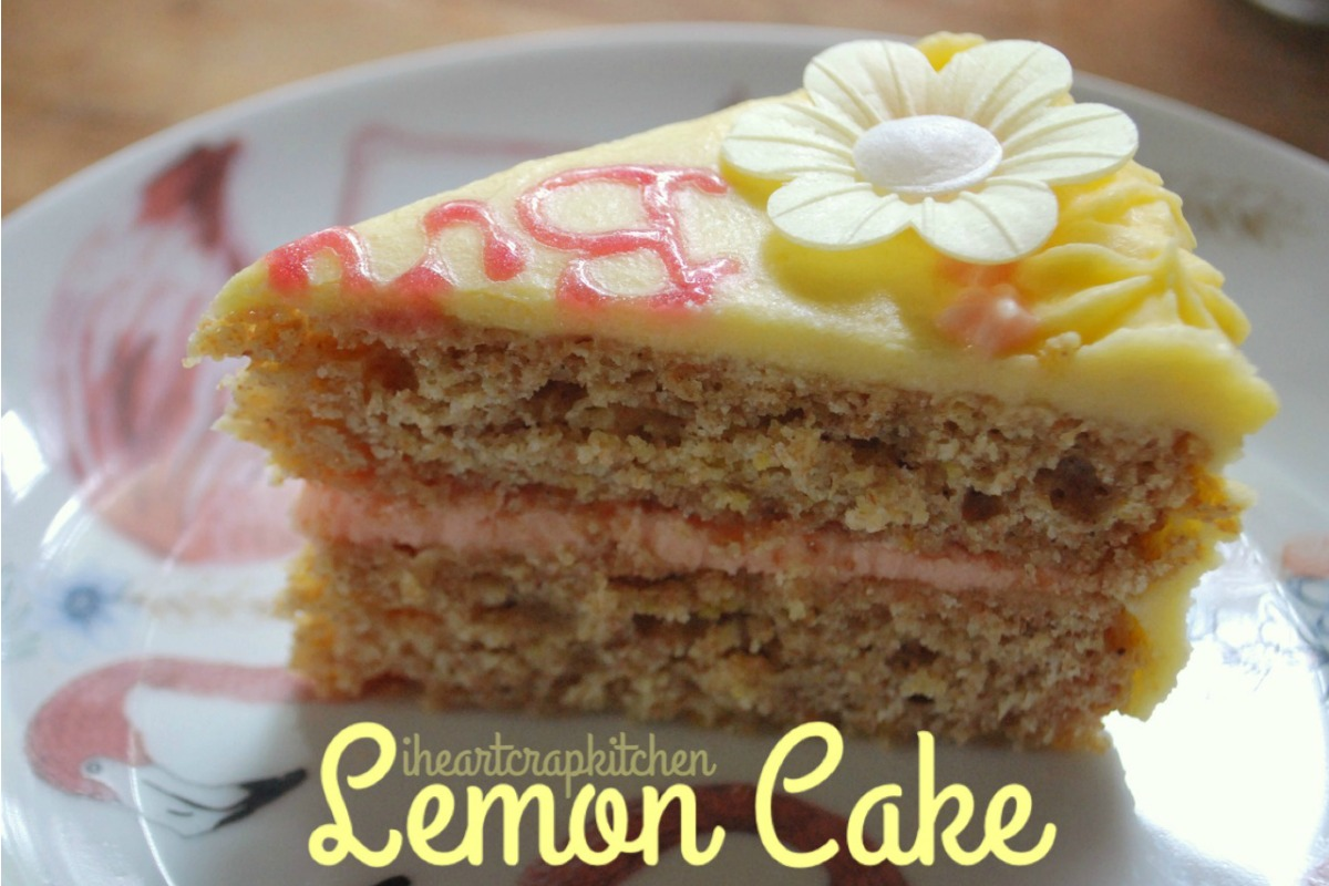 Stealthy Lemon Birthday Cake [Vegan]