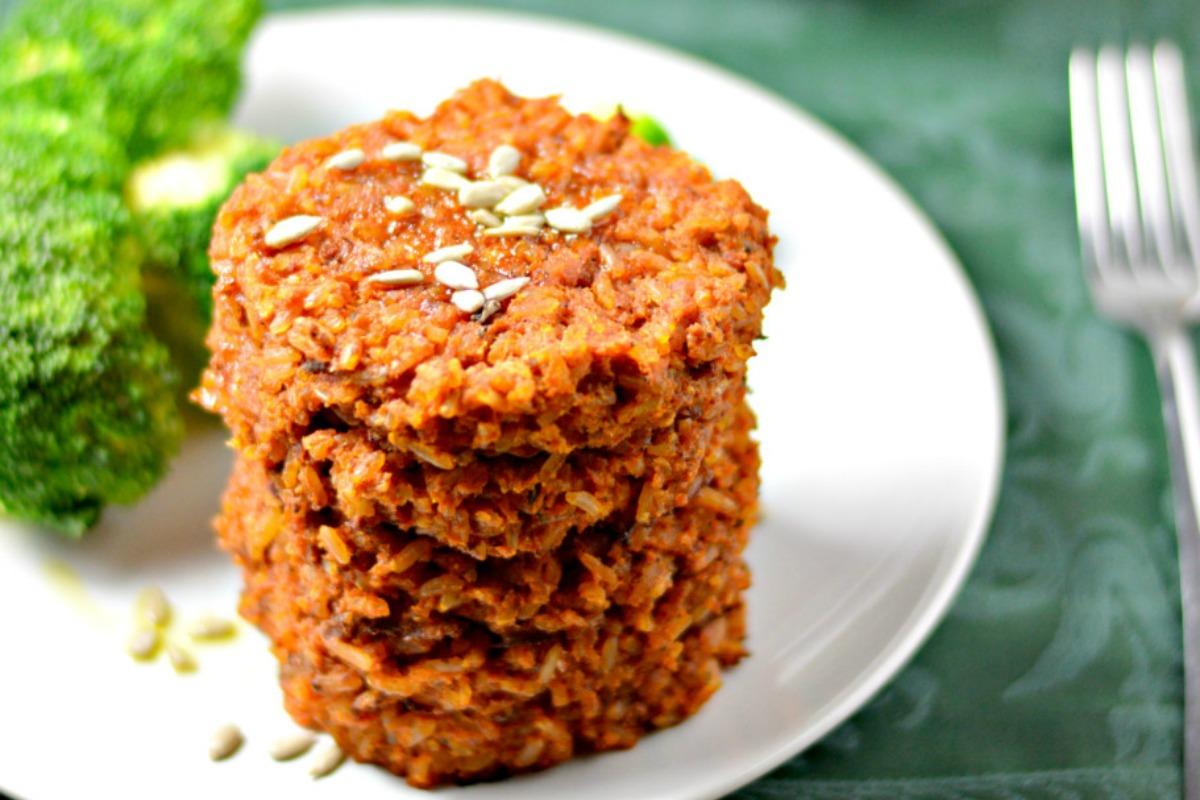 Tomato Rice Patties [Vegan, Gluten-Free]