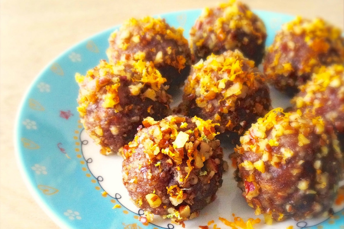 Orange Pecan Truffles [Vegan, Raw, Gluten-Free]