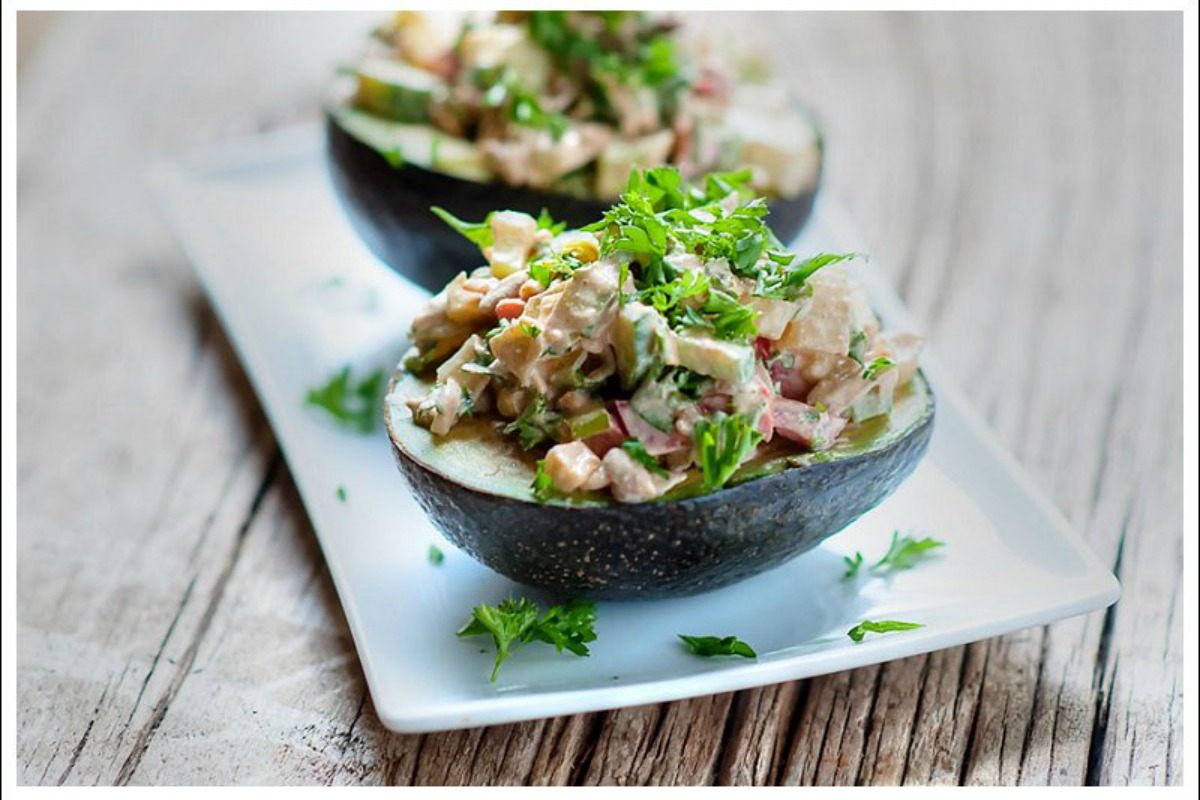 Stuffed avocados with chipotle mayo