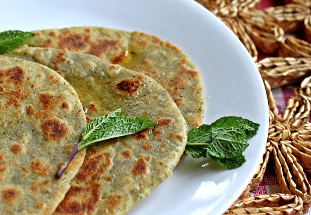 vegan Mint Parathas