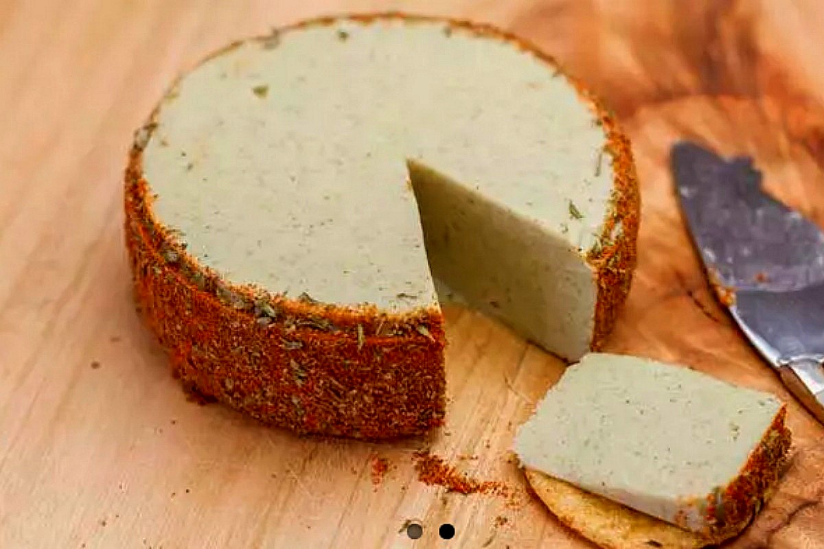 Herb and Garlic Almond Cheese [Vegan, Gluten-Free]