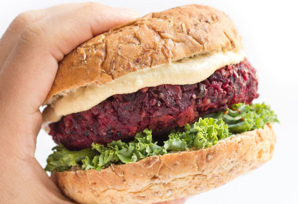 beet and quinoa veggie burger