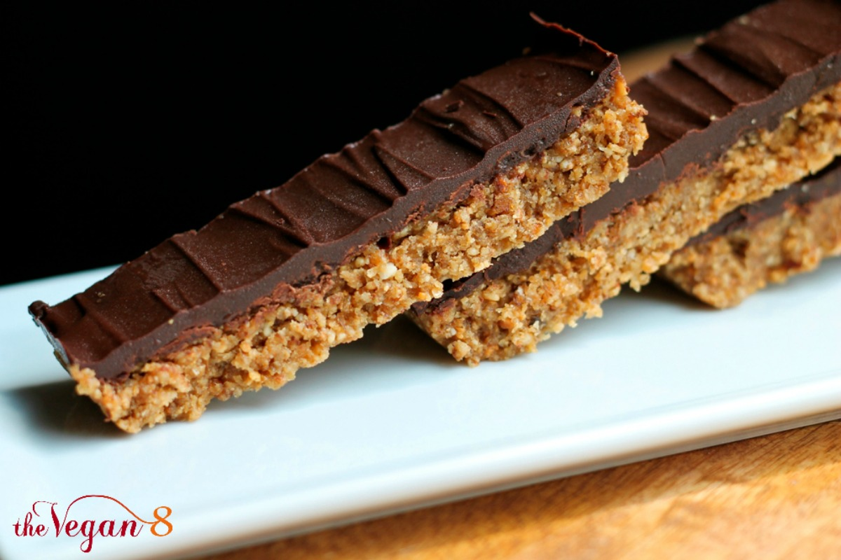 The First RAW Vegan Butterfinger Candy Bar [Vegan, Gluten-Free]