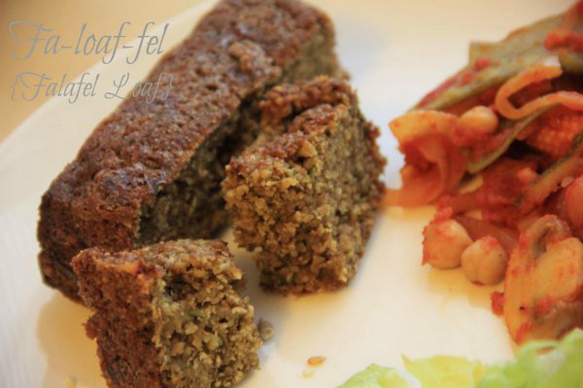 Falafel Loaf With Veg Chilli and Lime Lettuce [Vegan, Gluten-Free]