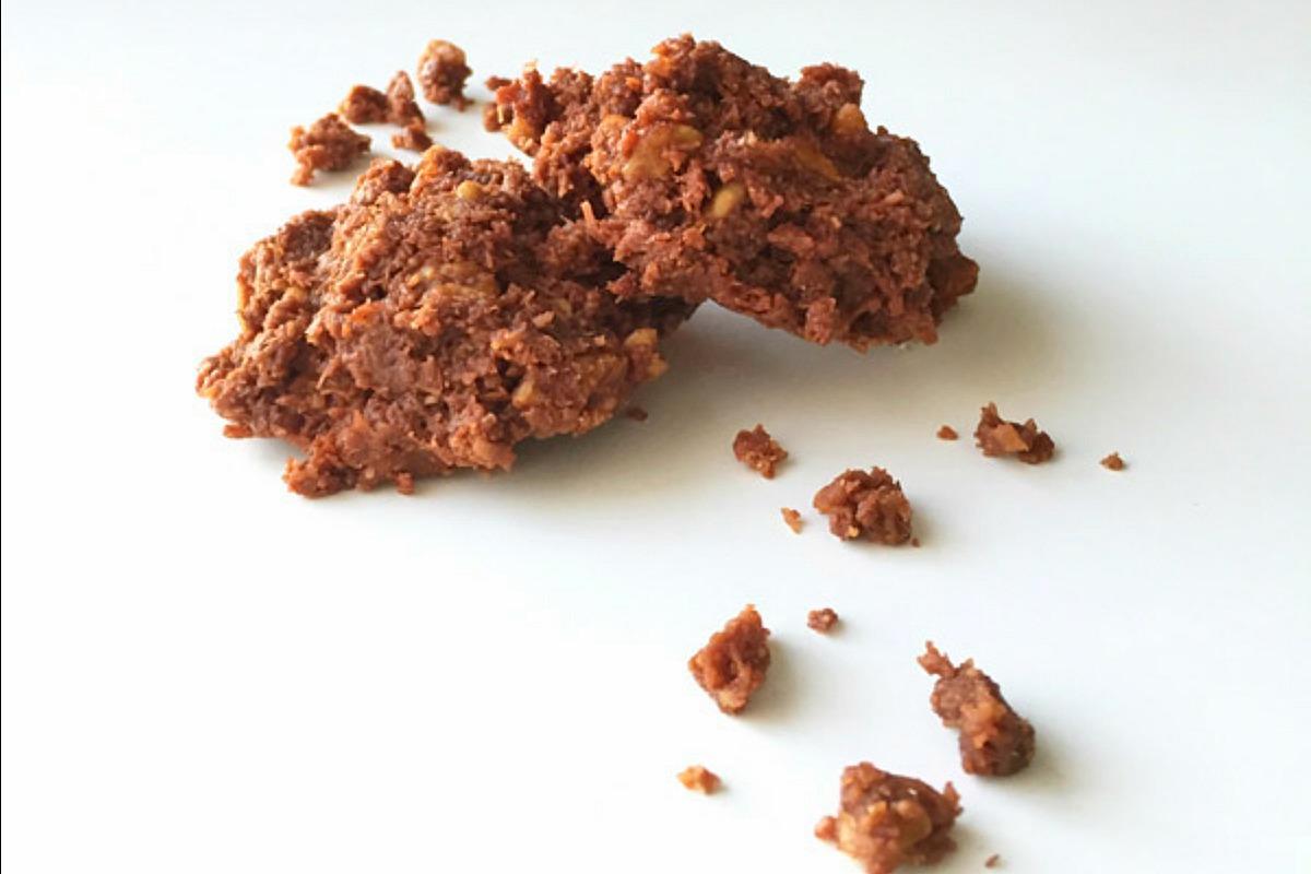 No Bake Almond Butter Chocolate Macaroons [Vegan, Gluten-Free]