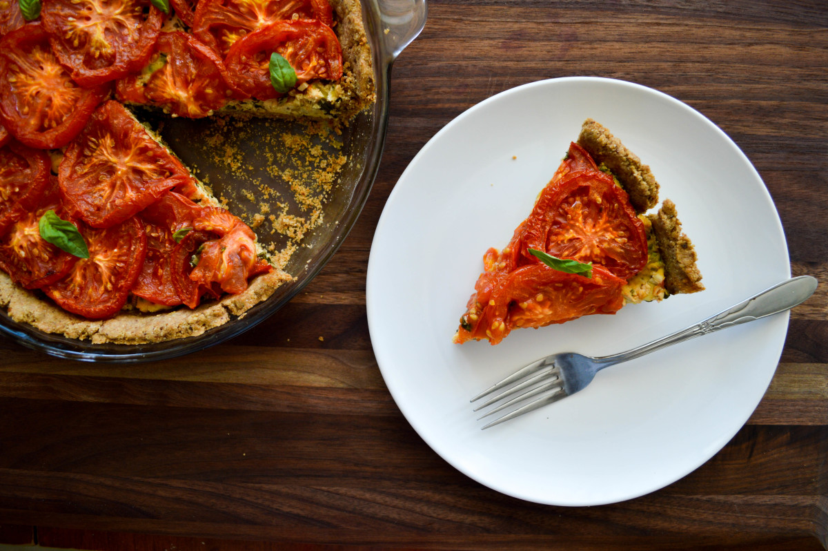 Roasted Tomato and Herb Quiche [Vegan, Gluten-Free]