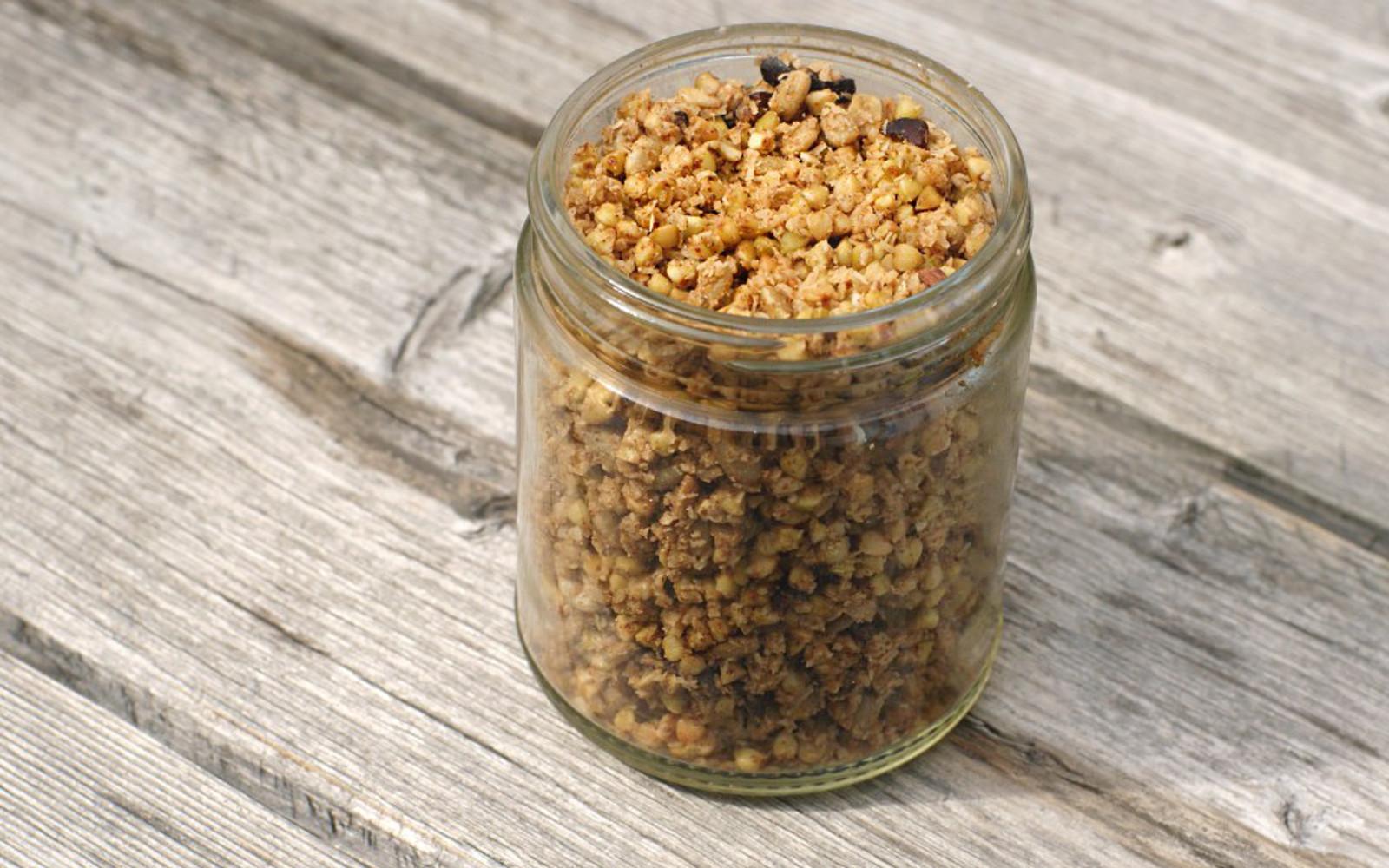 Sugar-Free Buckwheat Granola