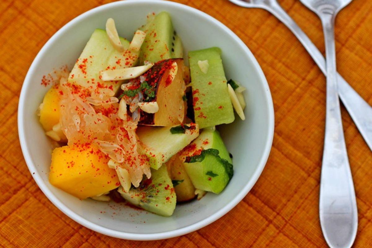 Spicy Fruit Chaat (Seasonal Indian Fruit Salad) [Vegan, Raw, Gluten-Free]