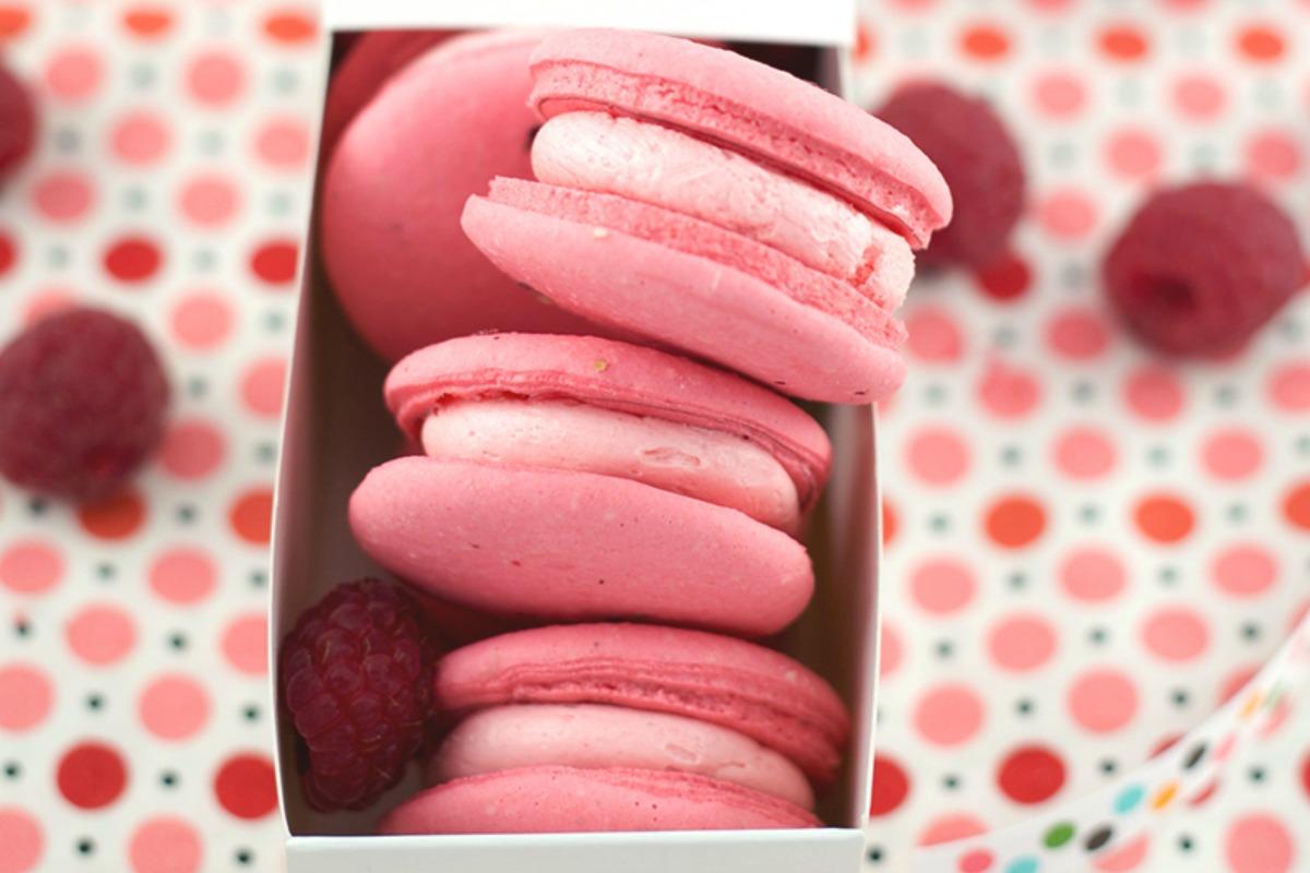 Raspberry Rose Macarons (With Aquafaba!)