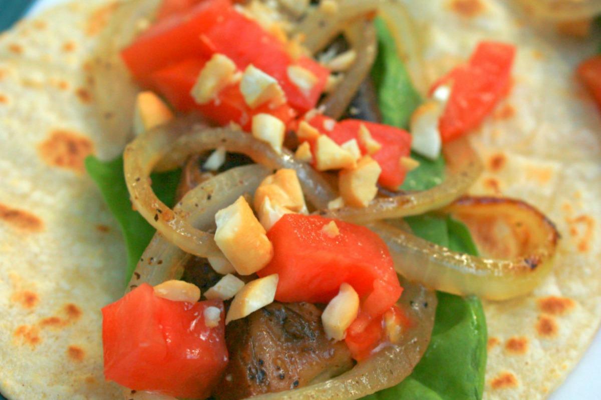 Balsamic Portobello Cashew Tacos [Vegan, Gluten-Free]