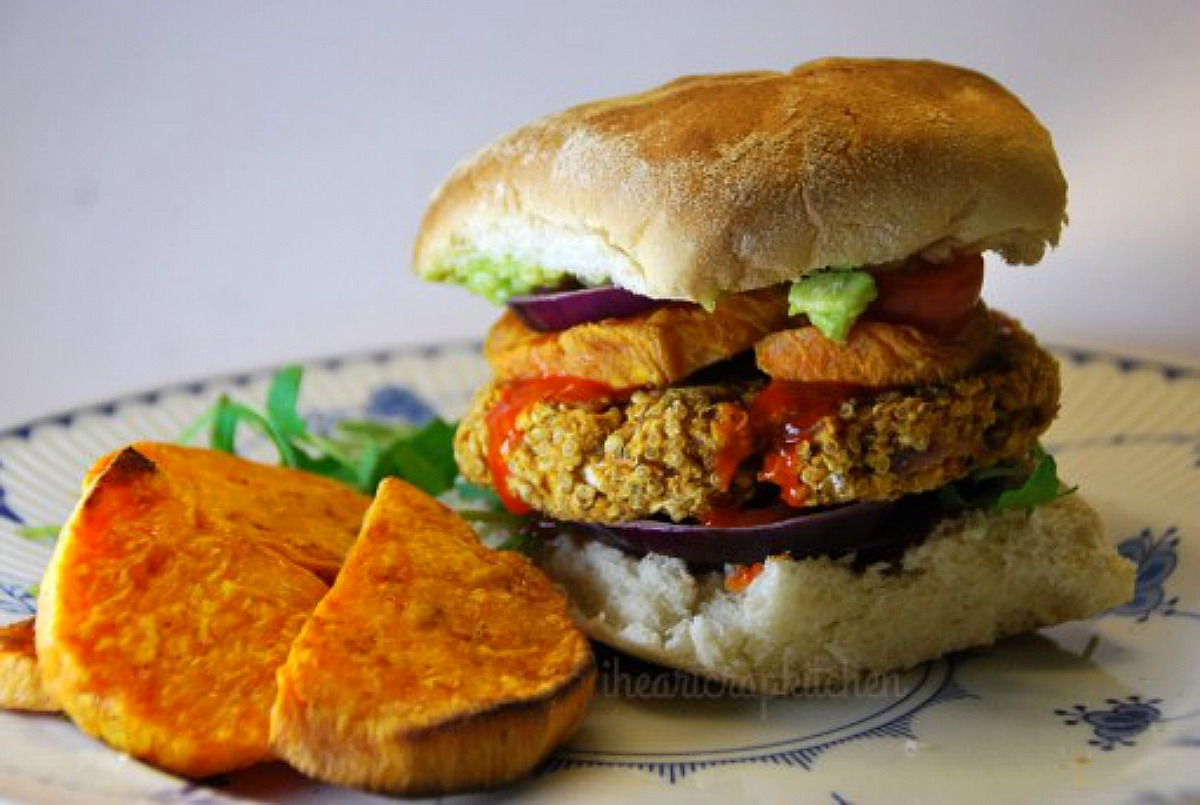 Spicy Buffalo Quinoa Burgers [Vegan]