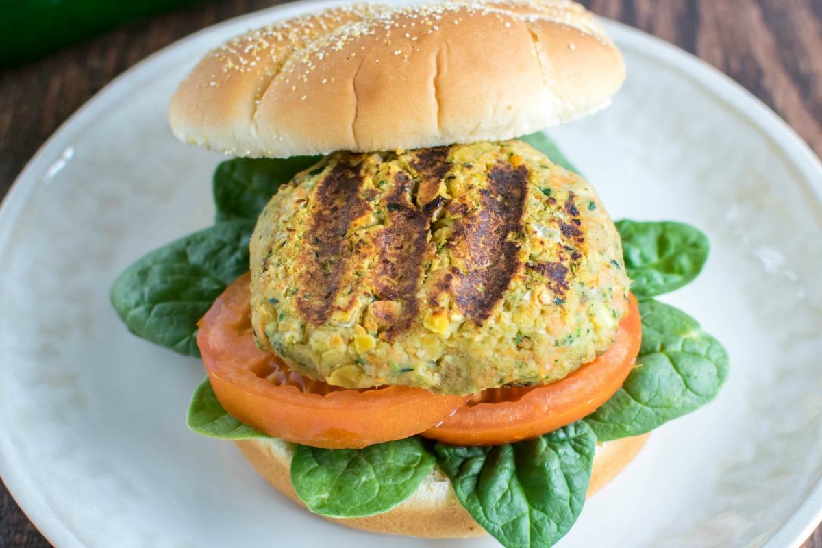 chickpea zucchini veggie burger