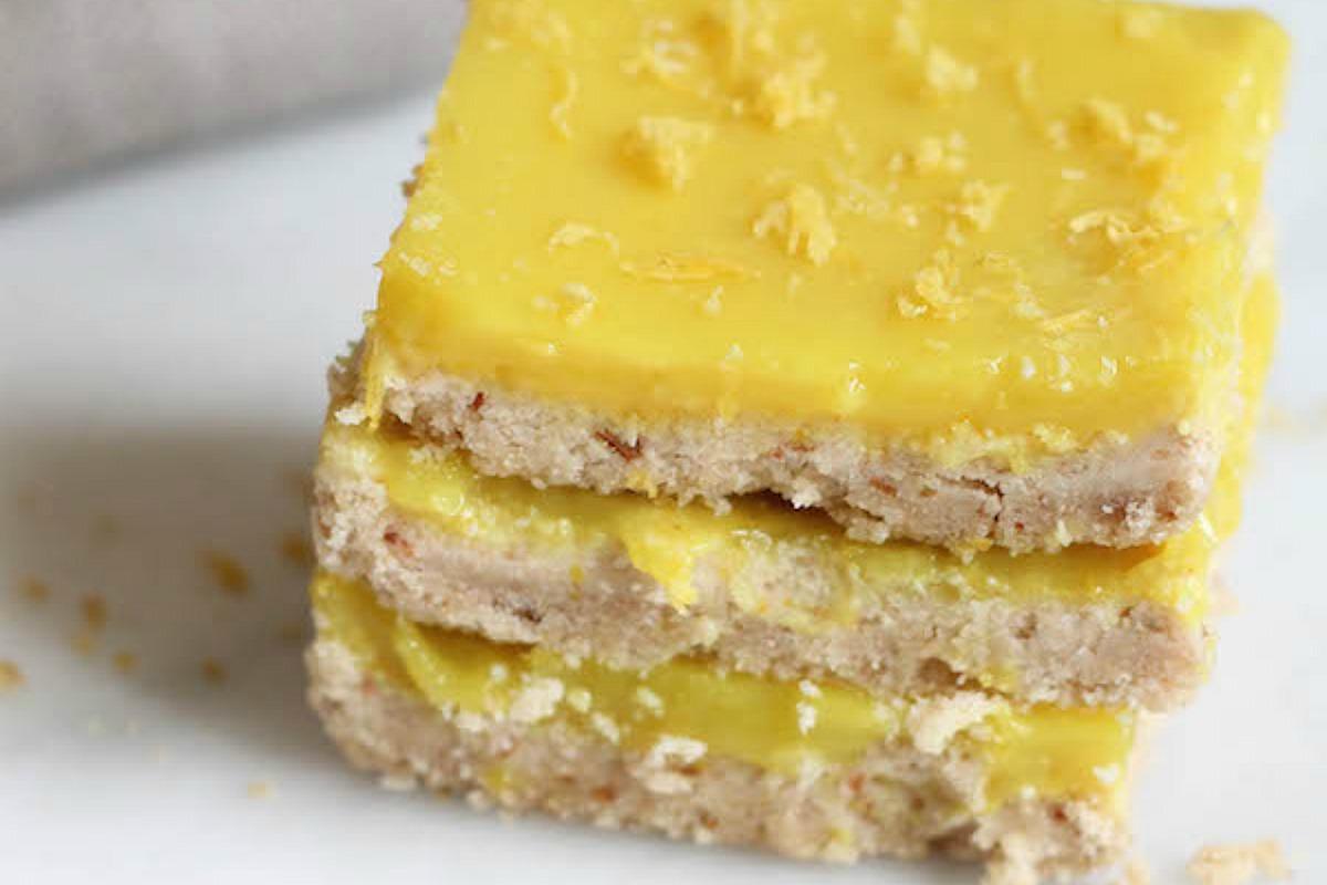 No-Bake Lemon Squares [Vegan, Gluten-Free]