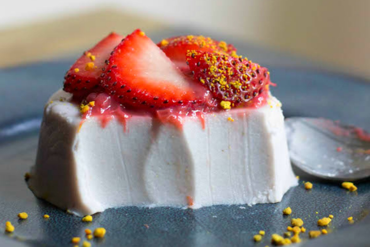 Strawberry Rhubarb and Coconut Panna Cotta [Vegan, Gluten-Free]
