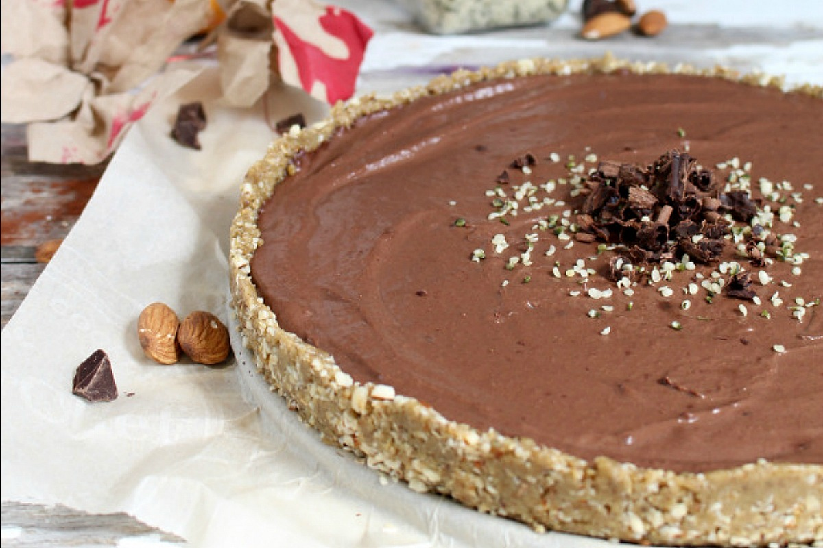 Chocolate Peanut Butter Pie [Vegan, Gluten-Free]