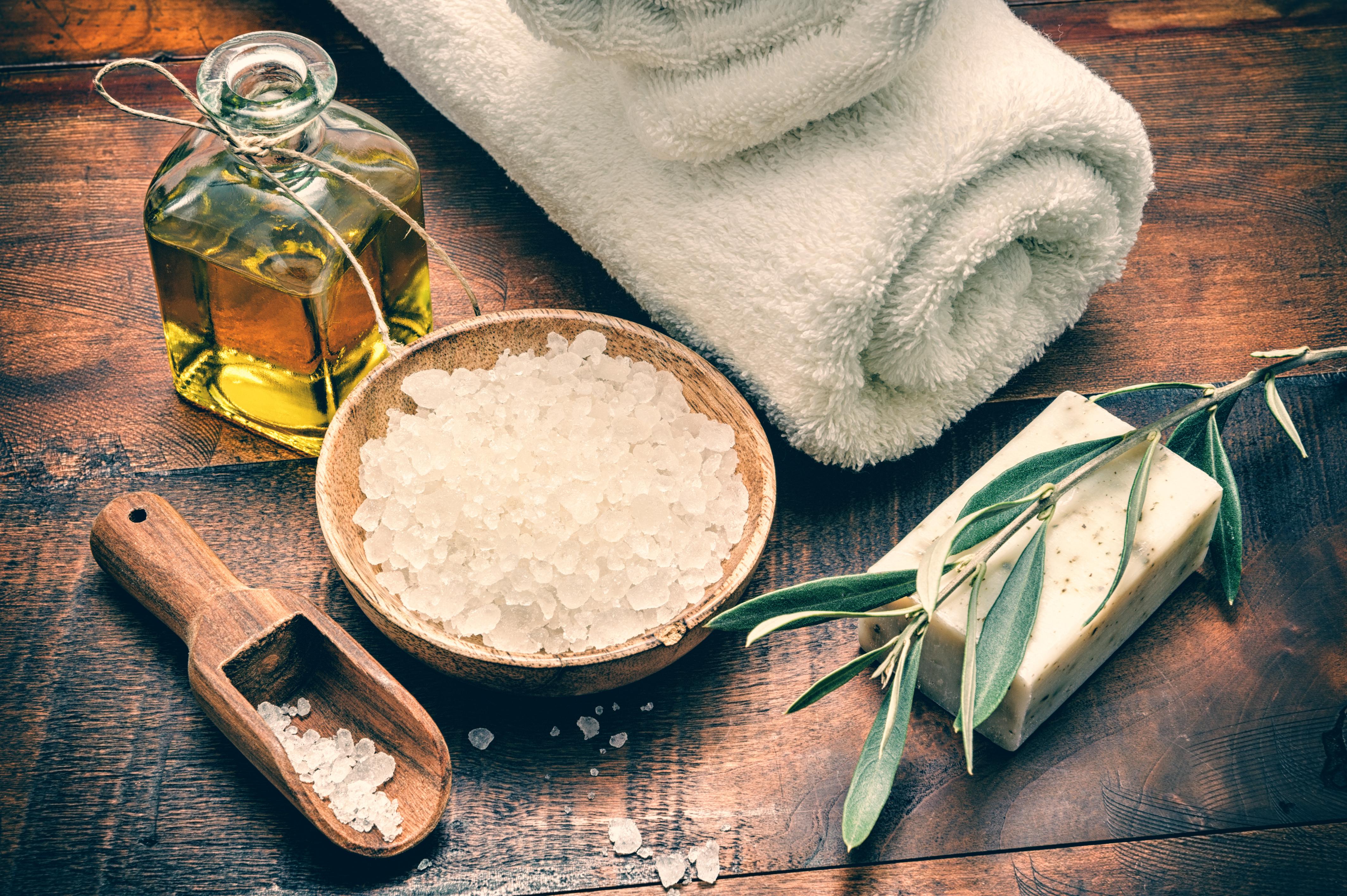 salt and oil