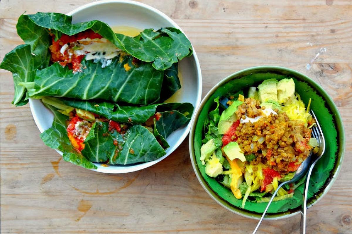 Green Tacos and Green Taco Salad [Vegan, Gluten-Free]