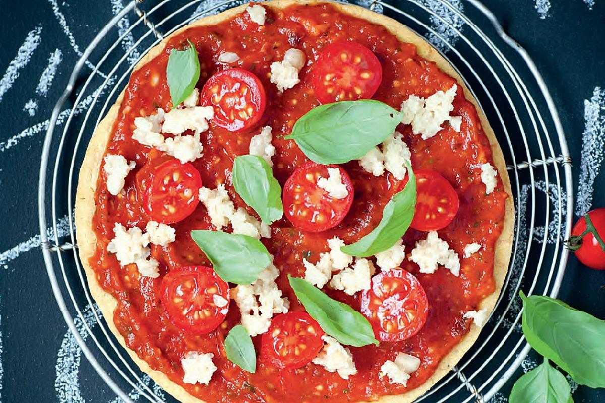 Socca Pizza [Vegan, Gluten-Free]