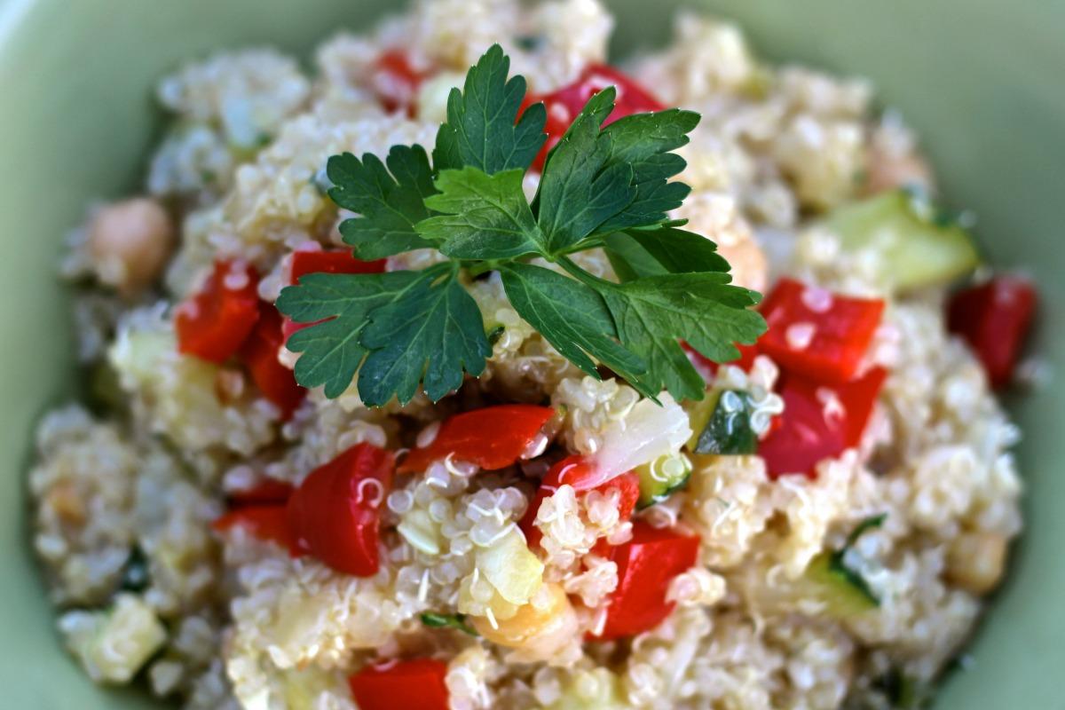 Quinoa Power Salad With Lemon Vinaigrette [Vegan, Gluten-Free]