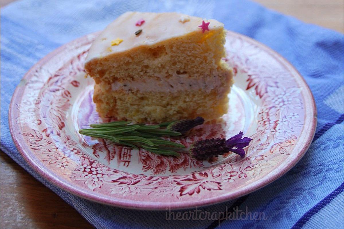 Lemon and Lavender Cake [Vegan]