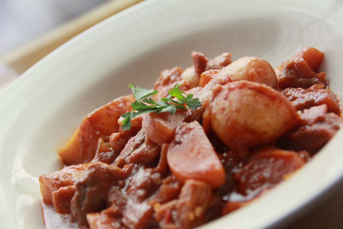 No-Dak-Doritang (Spicy Korean Potato and Vegetable Stew) [Vegan]