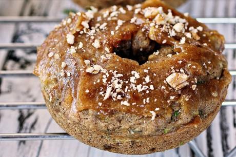 Maple Sweetened Zucchini Doughnuts With Date Frosting [Vegan]