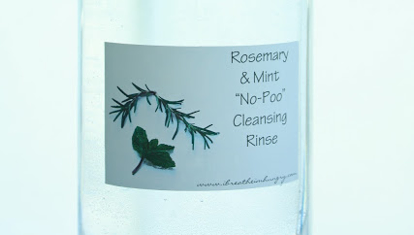 "Rosemary & Mint ""No Poo"" Hair Cleansing Rinse"