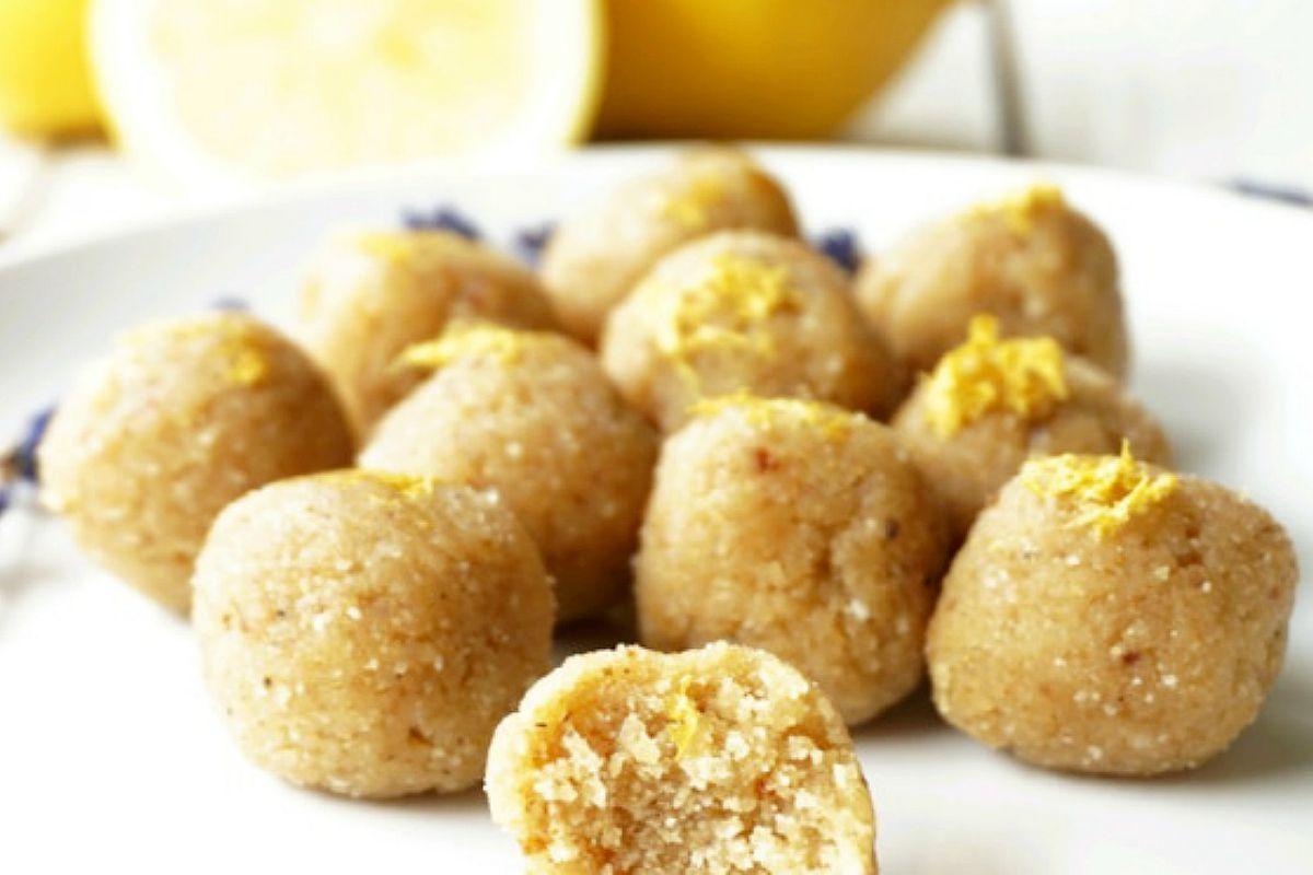 Vegan Lemon Lavender Truffle Bites